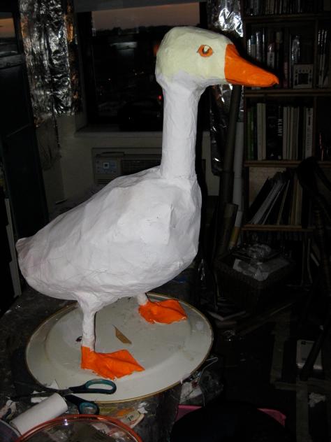 Unpainted goose