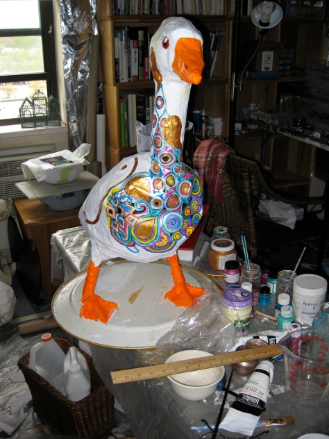 Half painted goose