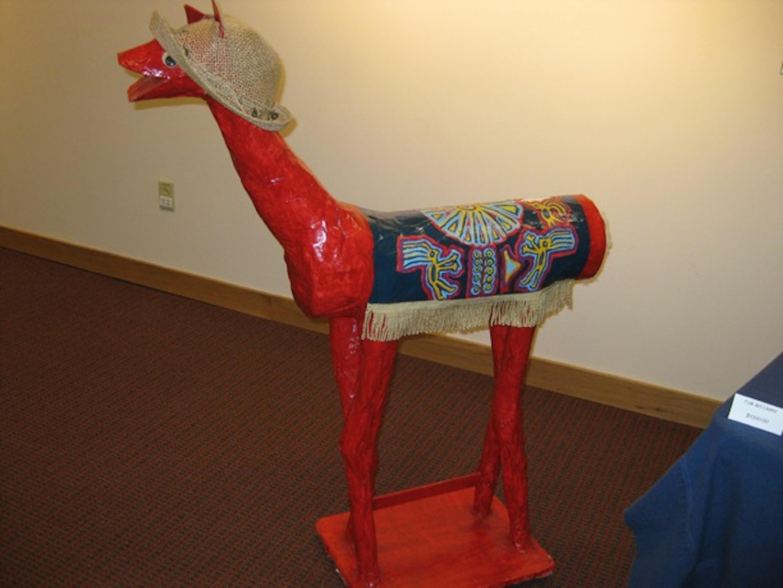 Dolly the Llama at show