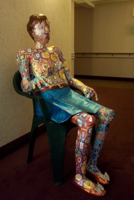 Decorated Betsy: Lifesize Papier Mache
