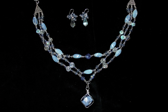 Wedding Necklace with Murano Bead