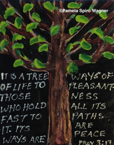 Tree Of LIfe with quote from Proverbs