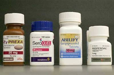 FOur Different Atypical Antipsychotic drugs