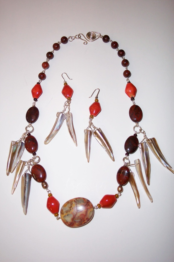 Indian Flame Necklace with Brass
