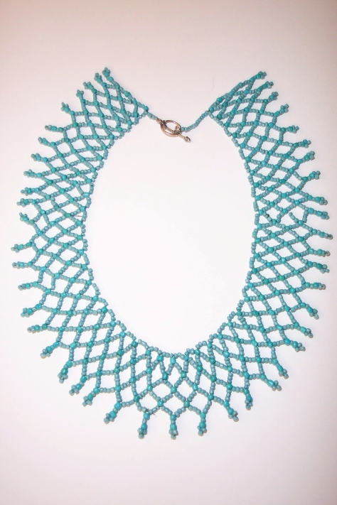 Simple Turquoise Netted Necklace