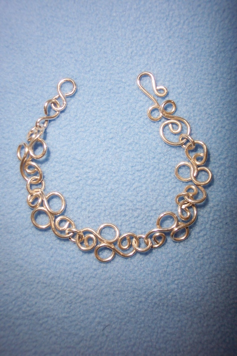 Silver Bracelet with handmade links