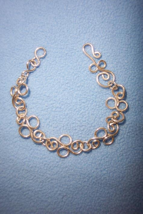 Silver Bracelet with handmade links