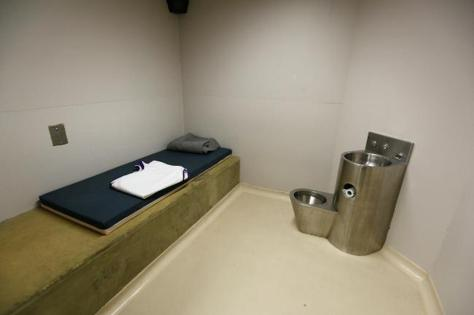 This supermax prison cell is better appointed than the seclusion rooms I have been put in...NO toilet or sink or blanket or bedding!