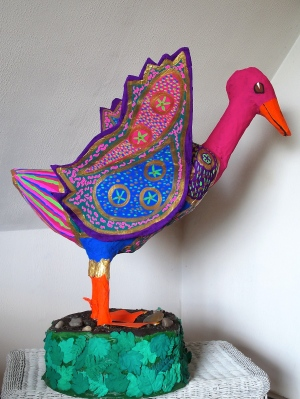 Dr Geuss:  large Papier Mache Goose  made for the Northeast Kingdom of Vermont's Human Services