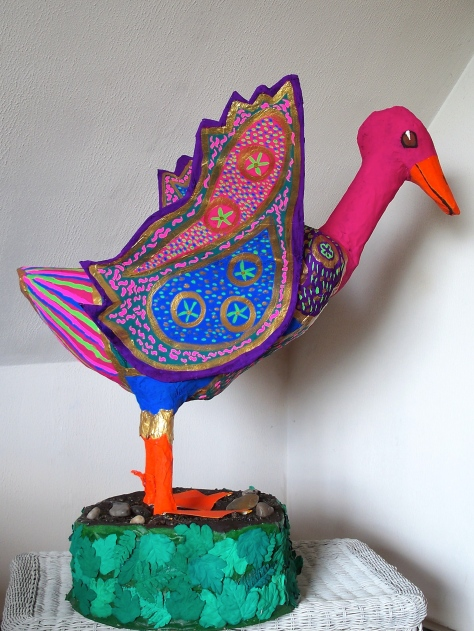 Dr Geuss:  Papier Mache Goose  made for the Northeast Kingdom of Vermont's Human Services