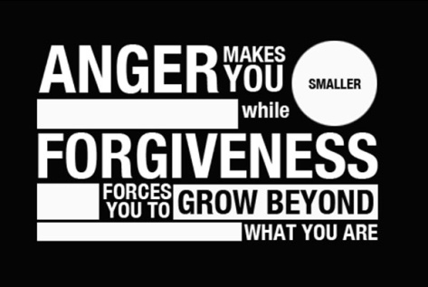 Forgiveness or anger? Its your choice....