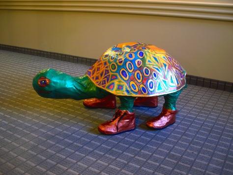 Papier Mache Turtle (3 feet across).