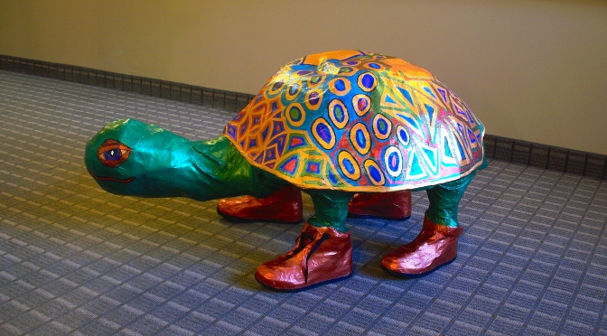 Paper Mache Patchwork Turtle – About Family Crafts | 372x672