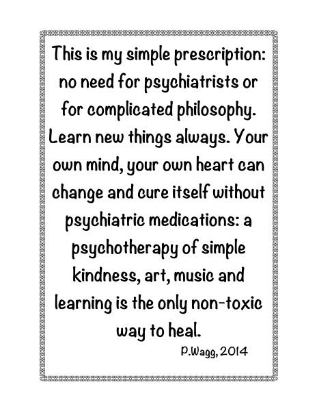 PRESCRIPTION FOR PSYCHIATRIC HEALING