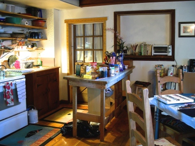 Carriage House Kitchen area summer 2014
