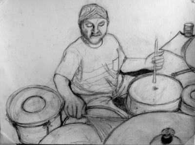 Sketch for painting that follows  - Jason is one of the best neighbors i have had!
