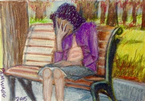 Despair on Park Bench