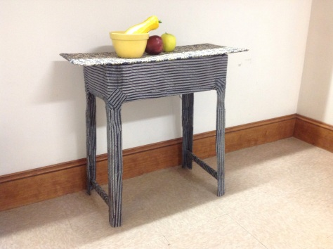 Cloth mache table made by pamela spiro wagner