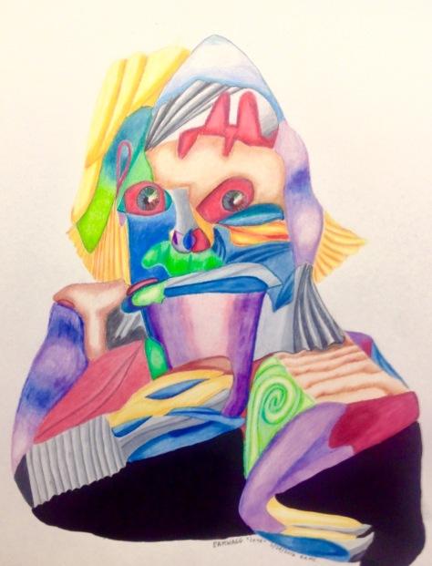 Fractured Portrait of Lene