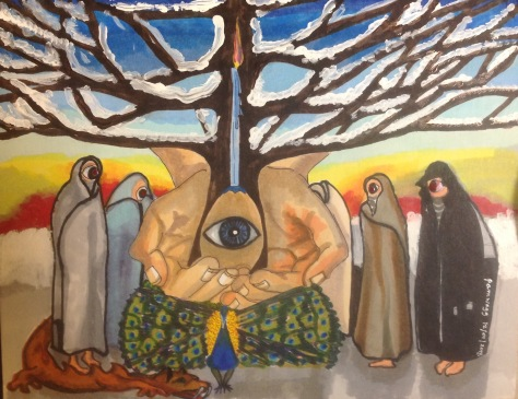 Five Watchers at the Tree of Creation