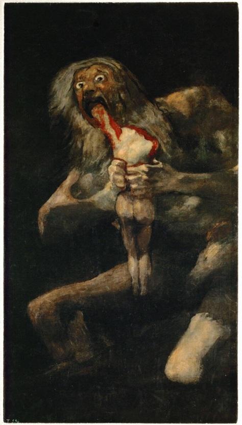 "Francisco Goya, ""Saturn Devouring his Son"""