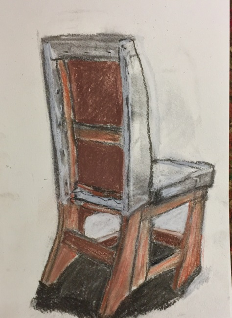 Chair drawn with Homemade Vine Charcoal