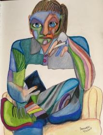 Fractured Portrait of Mott, #7