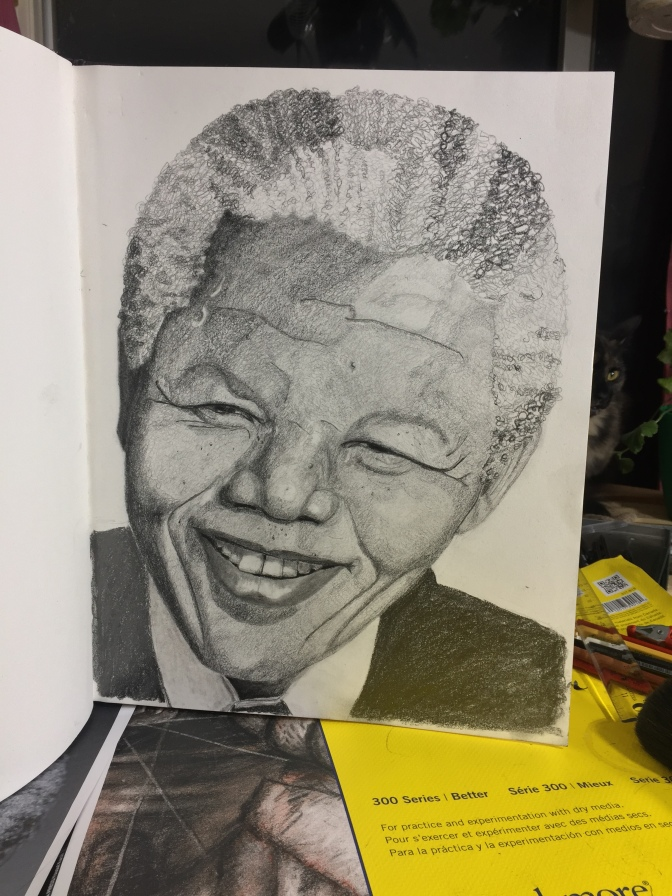 Portrait of Nelson Mandela