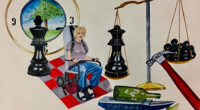 Restraint Chair Art, Work-in-Progress
