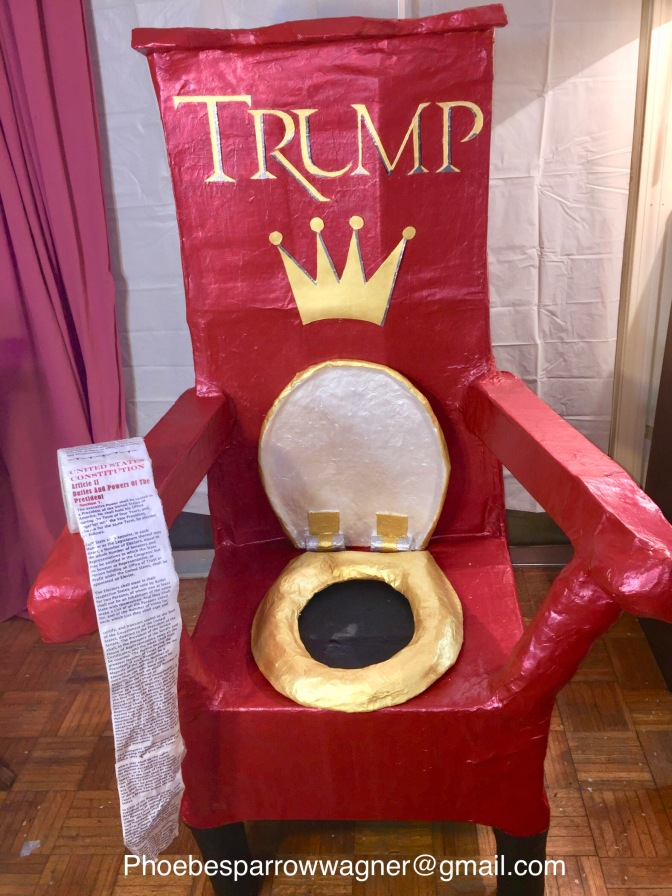TRUMP TOILET THRONE: ART FOR SALE!